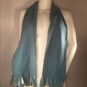Soft Blue Norm Thompson Scarf W/ Fringe!